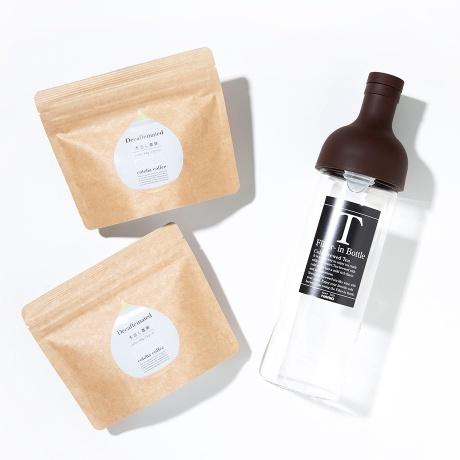 HARIOフィルターボトル(BROWN)とコーヒーセット