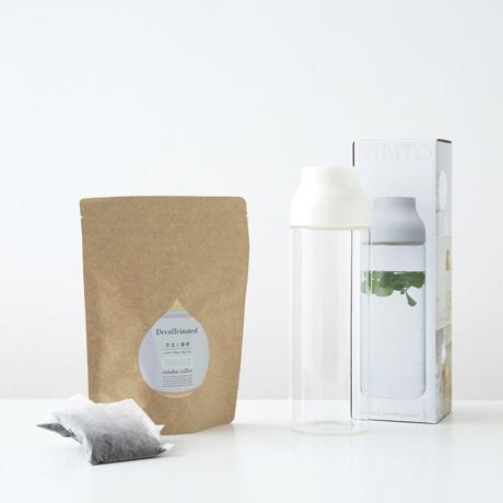 カフェインレスコーヒー水出し(12バッグ)&KINTOボトルギフトセット(ホワイト)