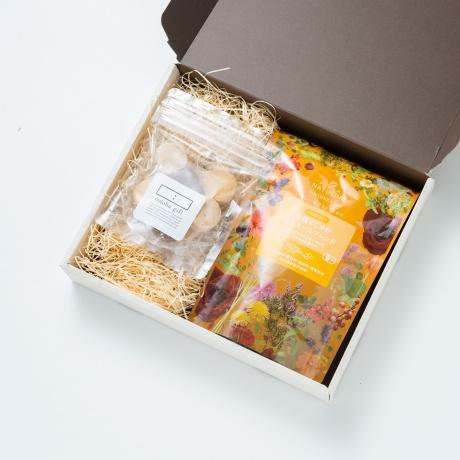 オーガニックハーブティー ティータイムセット(カモミールブレンド・グルテンフリークッキー(かぼちゃ他)