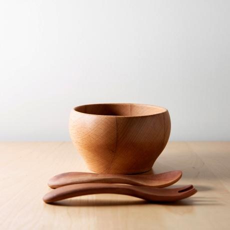 [cotohaオリジナル]木製ベビー食器3点セット&スタイ