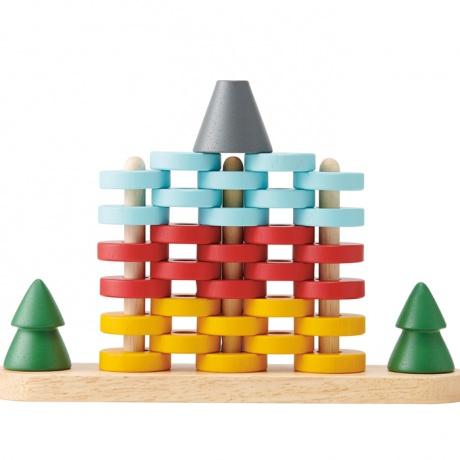 【エドインター】 森のリングタワー おもちゃ 知育玩具 積み木 木のおもちゃ