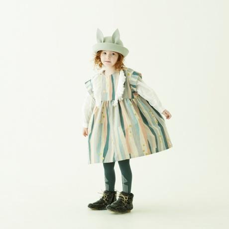 ワンピース 送料無料 eLfinFolk エルフィンフォルク Crambon stripe dress キッズドレス 120cm 130cm ベビー キッズ